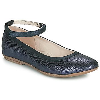 Pantofi Fete Balerin și Balerini cu curea Achile DANIELA Bleumarin