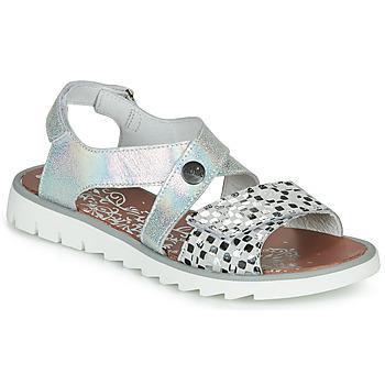 Pantofi Fete Sandale  Achile HIKARI Argintiu