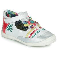 Pantofi Fete Balerin și Balerini cu curea Catimini PANTHERE Alb /  multicolor