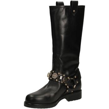 Pantofi Femei Cizme casual Albano RIO neror-nero-oro