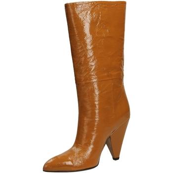 Pantofi Femei Cizme casual Giampaolo Viozzi CONO NAPLACK whisk-whisky
