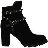 Pantofi Femei Ghete Mivida CAMOSCIO/NAPPA nero-nero
