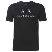 Îmbracaminte Bărbați Tricouri mânecă scurtă Armani Exchange 8NZTCJ-Z8H4Z-1200 Negru