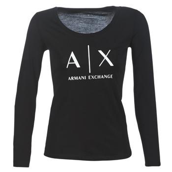 Îmbracaminte Femei Tricouri cu mânecă lungă  Armani Exchange 8NYTDG-YJ16Z-1200 Negru