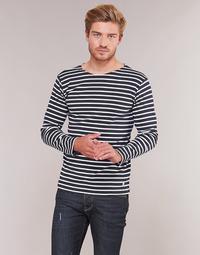 Îmbracaminte Bărbați Tricouri cu mânecă lungă  Armor Lux VERMO Bleumarin / Alb