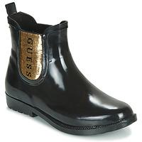 Pantofi Femei Cizme de ploaie Guess REKHA3 Negru / Auriu