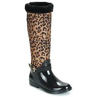 Pantofi Femei Cizme de cauciuc Guess CICELY Negru / Leopard