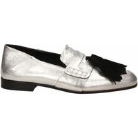 Pantofi Femei Mocasini Lemaré CAMOSCIO/LAMINATO argento-nero