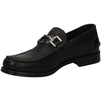 Pantofi Bărbați Mocasini Brecos OXFORD IKARO nero-nero