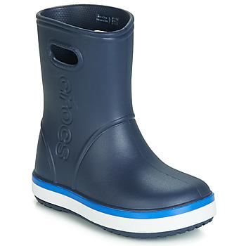 Pantofi Copii Cizme de cauciuc Crocs CROCBAND RAIN BOOT K Bleumarin
