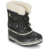 Pantofi Copii Cizme de zapadă Sorel CHILDRENS YOOT PAC NYLON Negru