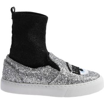 Pantofi Femei Pantofi sport stil gheata Chiara Ferragni CF 2094 SILVER-BLACK argento