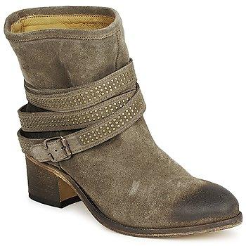 Pantofi Femei Botine Atelier Voisin FEW DAIM Taupe