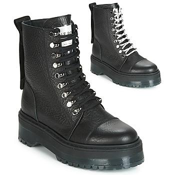 Pantofi Femei Ghete Bronx RIFKA SUPER CHUNKY Negru