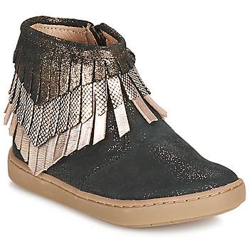 Pantofi Fete Ghete Shoo Pom PLAY HURON Negru / Argintiu