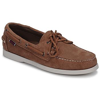 Pantofi Bărbați Pantofi barcă Sebago DOCKSIDES PORTLAND SUEDE Camel