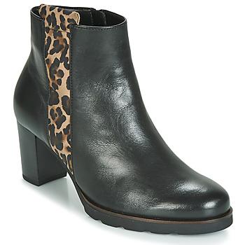 Pantofi Femei Botine Gabor 3554122 Negru / Leopard