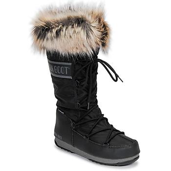 Pantofi Femei Cizme de zapadă Moon Boot MOON BOOT MONACO WP 2 Negru