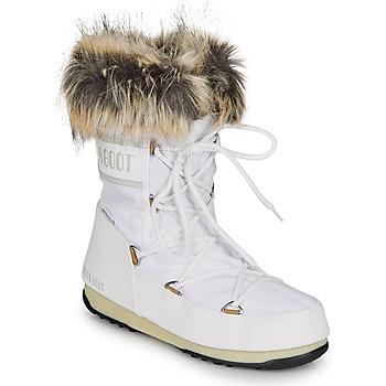 Pantofi Femei Cizme de zapadă Moon Boot MOON BOOT MONACO LOW WP 2 Alb