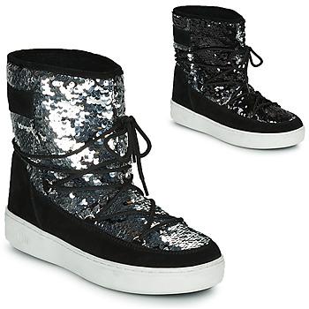 Pantofi Femei Cizme de zapadă Moon Boot MOON BOOT PULSE MID DISCO Negru / Paiete