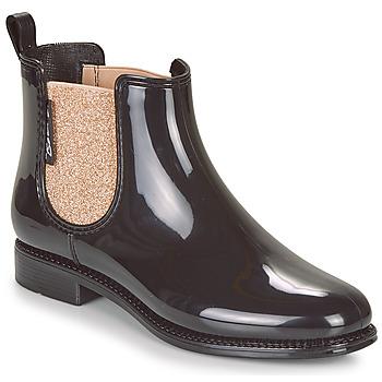 Pantofi Femei Cizme de ploaie Be Only NASHVILLE Negru / Auriu