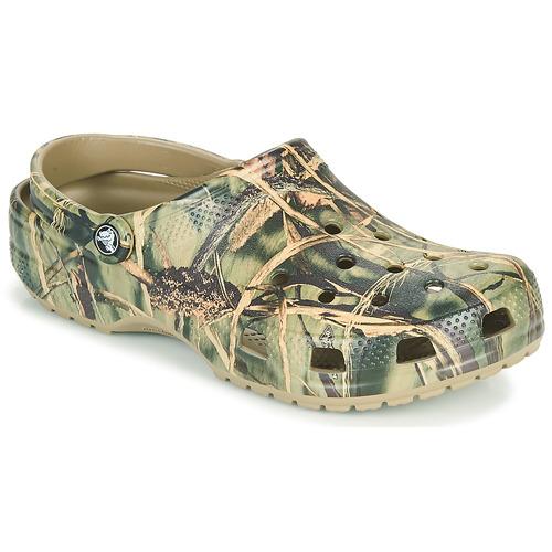 Pantofi Bărbați Saboti Crocs CLASSIC REALTREE Kaki