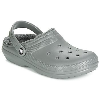 Pantofi Saboti Crocs CLASSIC LINED CLOG Gri