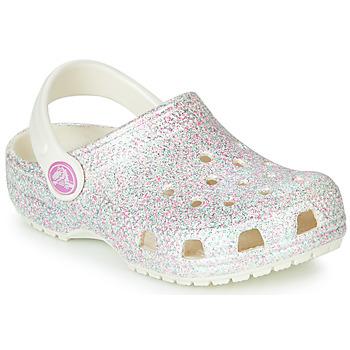 Pantofi Copii Saboti Crocs CLASSIC GLITTER CLOG K Alb