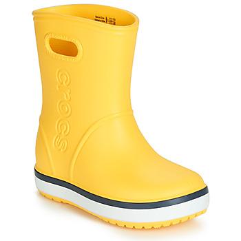 Pantofi Copii Cizme de cauciuc Crocs CROCBAND RAIN BOOT K Galben / Bleumarin