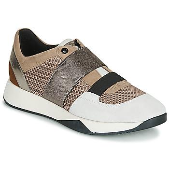 Pantofi Femei Pantofi sport Casual Geox D SUZZIE Taupe / Argintiu