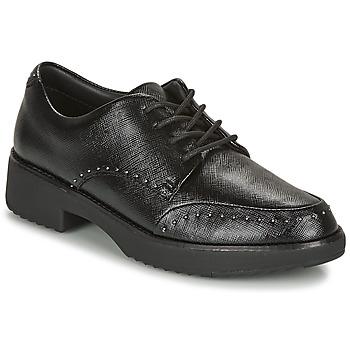 Pantofi Femei Pantofi Derby FitFlop KEELY MICROSTUD BROGUES Negru