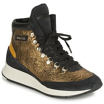 Pantofi Femei Pantofi sport stil gheata Philippe Model MONTECARLO Auriu / Negru