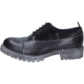Pantofi Bărbați Pantofi Oxford  Ossiani classiche pelle camoscio Nero