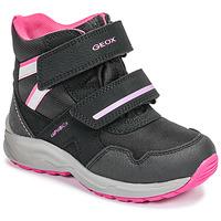 Pantofi Fete Cizme de zapadă Geox J KURAY GIRL B ABX Negru / Roz