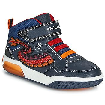 Pantofi Băieți Pantofi sport stil gheata Geox J INEK BOY Albastru / Roșu / Led
