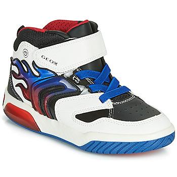 Pantofi Băieți Pantofi sport stil gheata Geox J INEK BOY Alb / Albastru / Led