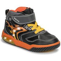 Pantofi Băieți Pantofi sport stil gheata Geox J INEK BOY Negru / Portocaliu