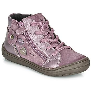 Pantofi Fete Ghete Geox J HADRIEL GIRL PrunĂ