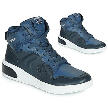 Pantofi Băieți Pantofi sport stil gheata Geox J XLED BOY Albastru / Led