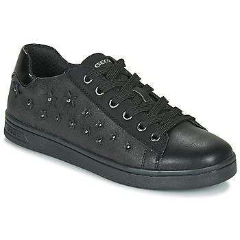Pantofi Fete Pantofi sport Casual Geox J DJROCK GIRL Negru