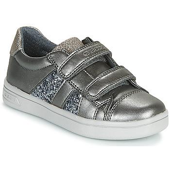 Pantofi Fete Pantofi sport Casual Geox J DJROCK GIRL Gri
