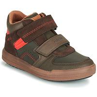 Pantofi Băieți Pantofi sport stil gheata Geox J ARZACH BOY Maro / Portocaliu