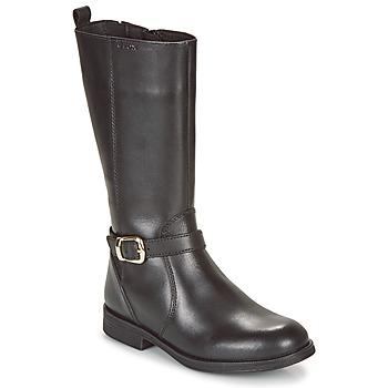 Pantofi Fete Pantofi sport Casual Geox JR AGATA Negru