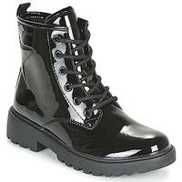 Pantofi Fete Ghete Geox J CASEY GIRL Negru