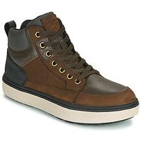 Pantofi Băieți Pantofi sport stil gheata Geox J MATTIAS B BOY ABX Cafea / Negru