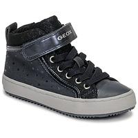 Pantofi Fete Pantofi sport stil gheata Geox J KALISPERA GIRL Albastru