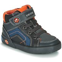 Pantofi Băieți Pantofi sport stil gheata Geox B KILWI BOY Gri / Negru