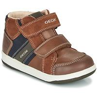 Pantofi Băieți Pantofi sport stil gheata Geox B NEW FLICK BOY Maro / Albastru