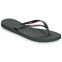 Pantofi Femei  Flip-Flops Havaianas SLIM LOGO METALLIC Negru