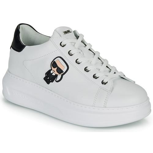 Pantofi Femei Pantofi sport Casual Karl Lagerfeld KAPRI KARL IKONIC LO LACE Alb / Negru